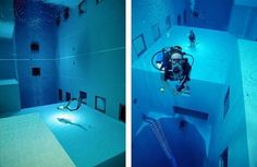 Nemo 33, piscine la plus profonde au monde. #Bruxelles
