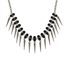Silver Spike Tassel Necklace by John Greed at John Greed Jewellery