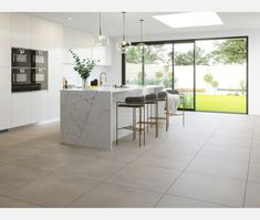 Dunsen Ivory Floor Tiles from Tile Mountain only per tile or per sqm. Order a free cut sample, dispatched today - receive your tiles tomorrow Home Decor Kitchen, Kitchen Interior, New Kitchen, Home Kitchens, Kitchen Design, Concrete Kitchen, Kitchen Tiles, Kitchen Flooring, Wall And Floor Tiles