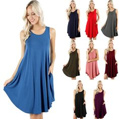 Item specifics   Condition: New without tags      :                A brand-new, unused, and unworn item (including handmade items) that is not in original packaging or may be missing original packaging materials (such as the original box... - #Women'sDresses https://lastreviews.net/fashion/womens/womens-dresses/womens-a-line-sleeveless-swing-dress-round-hem-flared-long-tunic-dress-s-m-l-xl/