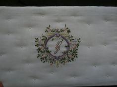 Interior of Custom embroidered wedding card box