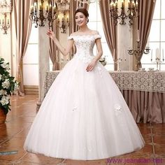 #Fashion #Women New Designed Ruched #Lace up White Big Swing High Waist #WeddingDresses