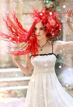 cherry Kool Aid hair