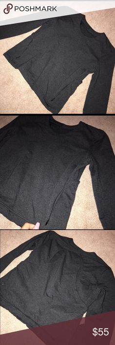 Getaway Crew Lululemon I bought it on posh mark from someone who only wore it once! I'm selling because it is too big on me. Love the back detailing and that it's open. Very nice thick material. lululemon athletica Sweaters