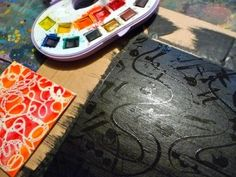 Painting with rubber cement