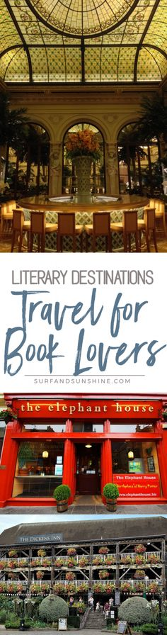 Many authors are inspiration by real people and places so why not meld your love of literature with your vacation? We have some great travel for book lovers inspiration to get you started via @Jeanabeena via @jeanabeena