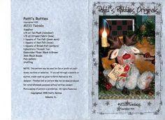 Coisinhas de Pano: Bonecas country moldes