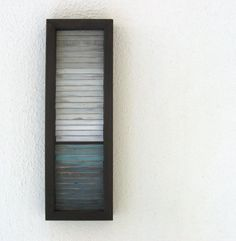 Small Landscape Painting - Distressed Wood Art