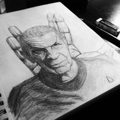 RIP Leonard Nimoy. Live long and prosper to all of you! Pencil on paper by Bernd Fürlinger #bnw #drawing #leonardnimoy #livelongandprosper #paper #pencil #portrait #scifi #sketch #spock #startrek #tattoo #llap
