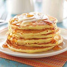 Buttermilk is the special ingredient that makes these pancakes light, fluffy and tender for breakfast or anytime of day.