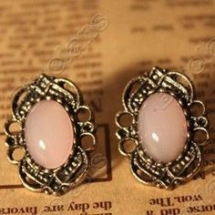 Discount China china wholesale Vintage Lace Inlaid Gemstone Stud Earrings Fashion Earring 6295 [6295] - US$1.24 : DealsChic