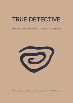 True Detective (2014–) ~ Minimal TV Series Poster by Besim Hakramaj #amusementphile