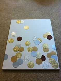 confetti glitter art... put on a canvas and hang up somewhere. I think it would also be good for cards and not JUST a canvas