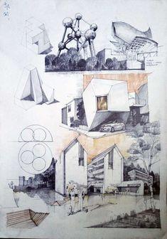 Subiecte – Page 5 – Vlad Bucur Architecture Graphics, Architecture Drawings, Architecture Portfolio, School Architecture, Architecture Plan, Landscape Architecture, Future Buildings, Schematic Design, Architect Drawing