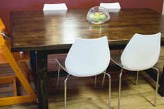 Rustic Table + Modern Chairs - Baby Rabies Blog