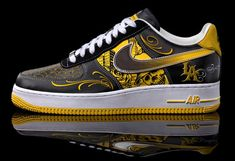 Nike air force ones, Mr cartoon + Livestrong