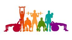 Detailed vector illustration silhouettes strong rolling people set girl and man sport fitness gym body-building workout powerlifting health training dumbbells barbell. Football Player Drawing, Architecture Concept Diagram, Gym Logo, Gym Decor, Graffiti Murals, Happy Paintings, Vector Clipart, Bodybuilding Workouts, Anime Art Girl