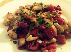 Recetas Fitness Fáciles: Pechuga de pollo con pimientos del piquillo