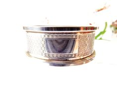 Silver Napkin Ring, Vintage Sterling Serviette Ring, Wedding Gift, Silver God Parent Christening Gift, English Silverware, Baby Shower Gift by CuriosAnCollectibles on Etsy