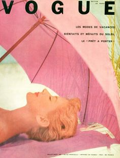 Vintage Vogue Cover ~ Paris ~ Pink and on the Beach. Vogue Vintage, Vintage Vogue Covers, Aesthetic Collage, Aesthetic Vintage, Photo Wall Collage, Picture Wall, Vintage Vibes, Vintage Pink, Vintage Paris
