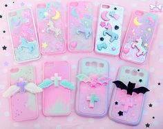 Discovered by La☽isla. Find images and videos about pink, kawaii and pastel on We Heart It - the app to get lost in what you love. Decoden Phone Case, Kawaii Phone Case, Girly Phone Cases, Diy Phone Case, Iphone Cases, Phone Covers, Kawaii Jewelry, Kawaii Accessories, Phone Accessories