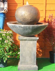 Wall fountain transforms your home or garden by adding running water beauty. These can be used either outdoor or indoor to cover the unused areas. Garden Water Fountains, Water Garden, Herb Garden, Modern Outdoor Fountains, Garden Ornaments, Garden Ideas, Herbs, Indoor, Outdoor Decor