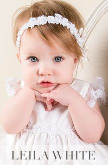 Leila White Silk Christening Gown (Girl) | Baptism Outfits Dresses