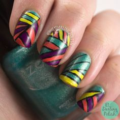 Recreate an Old Manicure  #nails, #nailart, #nailpolish, #stripes, #color, #heydarlingpolish, #2015cnt31daychallenge
