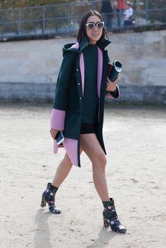 Eva Chen Fashion Week street style.