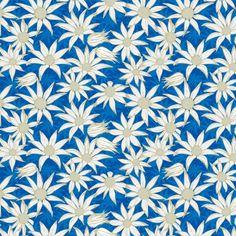 Flannel flowers (blue) fabric by bippidiiboppidii on Spoonflower - custom fabric