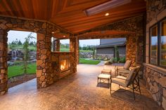 with a touch of furniture this space could really pop #outdoor #fireplaces #outdoor #entertaining mantelsdirect.com