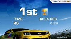 CHEVROLET CAMARO ZL1 GOLD - BRANDS HATCH - REAL RACING 3 - ANDROID GAMEP...