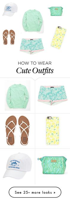 """Cute Spring Outfit"" by noelleebee on Polyvore featuring Vineyard Vines, Lilly Pulitzer, Antigua, Casetify and Billabong"