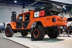 2020 Jeep Gladiator JT - SEMA Show 2019 Jeep Wrangler Lifted, Wrangler Rubicon, Jeep Wrangler Unlimited, Jeep Wranglers, Jeep Pickup, Jeep Truck, Chevy Trucks, Rooftop Tent Camping, Sema 2019