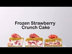 Frozen Strawberry Crunch Cake recipe - from Tablespoon!