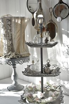 corset lamp shade and the vintage trays that would  | Corsets
