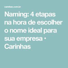 Naming: 4 etapas na hora de escolher o nome ideal para sua empresa • Carinhas