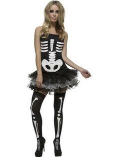 Costume da Scheletro Fever Vestito a Tut¨´ Donna Halloween Ossa Sexy Fever  ce4583866eb