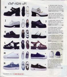Yes to all. Basically, the ideal '90s shoe collection for a teen. Covers all bases.  Delia's love from the 90s. I loved getting these catalogs.