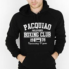 PACQUIAO BOXING CLUB - cool retro manny fighting mma auto gloves filipino philippine gym ring match title new tee shirt - Mens Black Hoodie on Etsy, $26.80