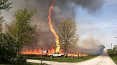 "A Missouri woman took a picture of what is being called a ""firenado"" -- a common weather phenomenon, though still looks incredibly frightening."