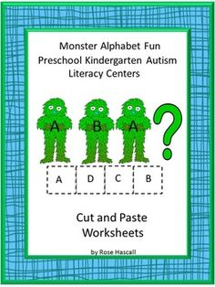 This Monster Alphabet Fun Cut and Paste is a fun way for the student to learn the alphabet. It consists of the following for a total of 16 pages of Alphabet fun using various monsters. Color Matching, What Letter Comes Next, Letter-upper case, low case Matching, Match the First letter in the row.