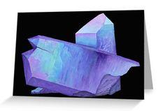 Purple crystal amethyst greeting card.  Shop now: http://www.redbubble.com/people/marianamello/works/23611054-purple-crystal-amethyst-angel-aura-quartz-geode?asc=u&p=greeting-card&rel=carousel