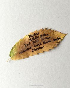 schaeresteipapier: Ein Elfchen auf Blätter geschrieben.  Kreative Idee, um mit den Kindern gemeinsam über den Herbst nachzudenken.  Tipp: Eingerahmt oder auf einer schönen Karte aufgeklebt auch ein tolles Geschenk...