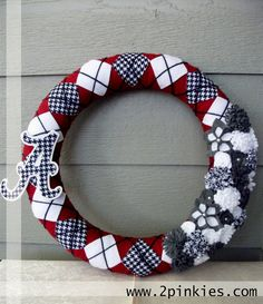 University of Alabama Wreath -  via Etsy.