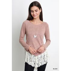 Long Sleeve Bottom Lace Top