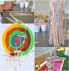 children candy party games - pin the stick on the lollipop (use paint stir sticks rather than straws? Candy Party Games, Block Party Games, Candy Party Favors, Candy Theme, Birthday Party Games, Birthday Ideas, Lollipop Party, Birthday Decorations, Candy Land