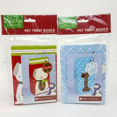 Cookie Exchange Pet Dog Puppy Treat Goodie Bag Gift Boxes w/ Window Qty 10 NEW