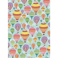 Hot air balloon wrapping paper from Paper Source would look great framed in nursery!