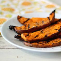 Wedges of sweet potato coated in a slightly spicy with a hint of lime marinade that is grilled to perfection.